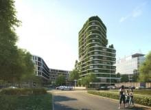 Grünes Hochhaus