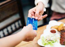 Kreditkartenzahlung nach dem Essen