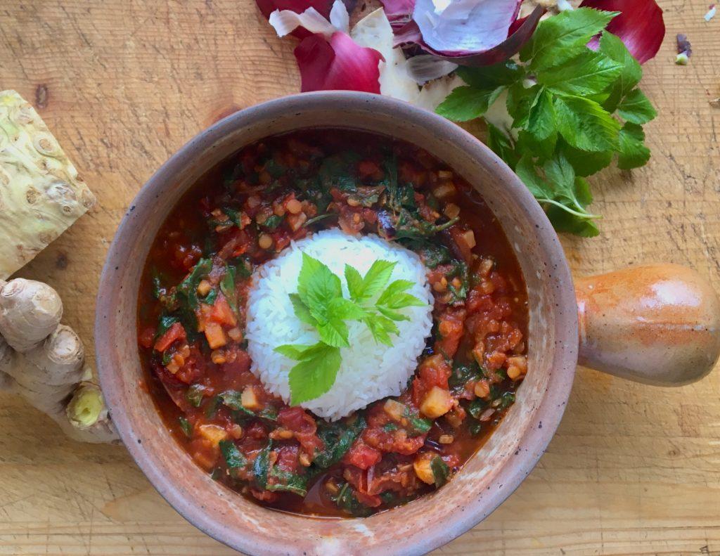 wildkräuter curry rezept